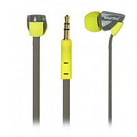 Внутриканальные наушники SmartBuy® TECHNA, плоский кабель, желт/серые (SBE-7210)/120