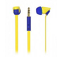 Внутриканальные наушники SmartBuy® TECHNA, плоский кабель, желт/синие (SBE-7220)/120