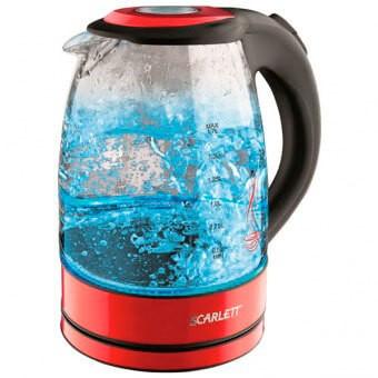 Электрический чайник Scarlett SC-EK27G99 (стекло) красный