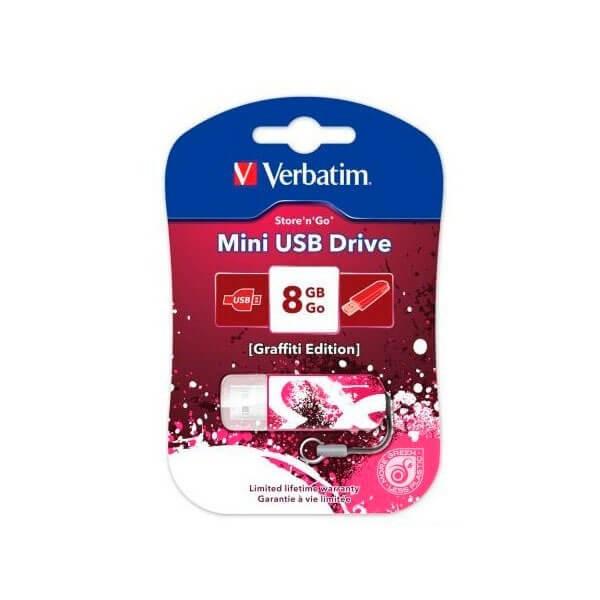 USB накопитель 8GB 2.0 Verbatim 098165 красный