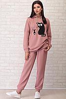 Женский осенний трикотажный розовый спортивный спортивный костюм LIMO 10018 роза 42р.