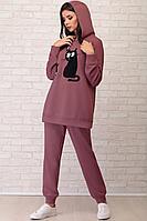 Женский осенний трикотажный фиолетовый спортивный спортивный костюм LIMO 10018 сирень 42р.