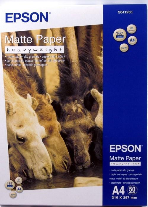 Бумага Epson Matte Paper-Heavyweight, A4, C13S041256