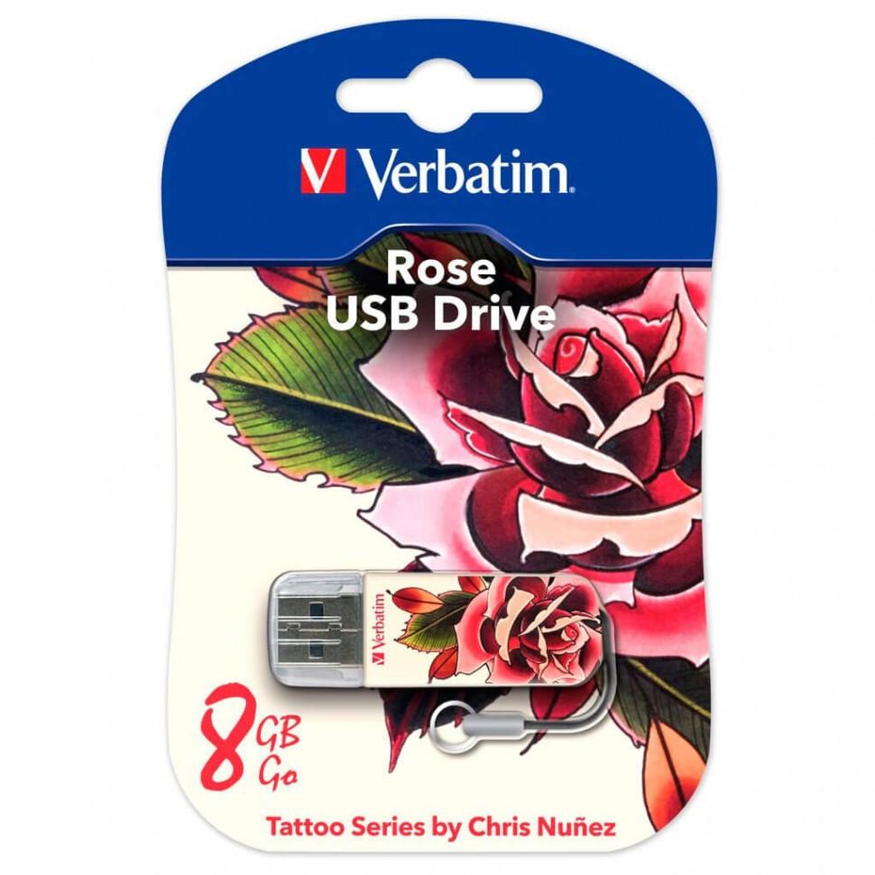 USB Флеш 8GB 2.0 Verbatim 049881 роза