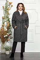 Женское осеннее драповое большого размера пальто Mira Fashion 4845 54р.