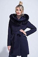 Женское зимнее драповое синее пальто ElectraStyle НП3у-8004-128 темно-синий 44р.