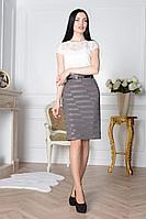 Женская осенняя серая деловая большого размера юбка ELITE MODA 3408 серый 48р.