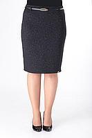 Женская осенняя черная деловая юбка ELITE MODA 3436 черный 48р.