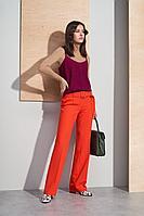 Женские осенние красные деловые брюки BURVIN 6950-11 42р.