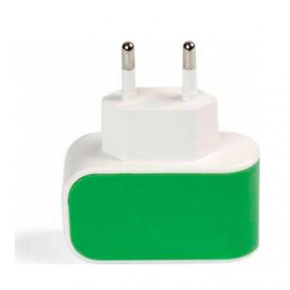 СЗУ SmartBuy COLOR CHARGE, 2А, универсальное, 1хUSB, зеленое (SBP-8040)/100