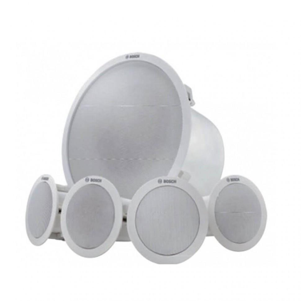 Потолочная музыкальная акустическая система (1 сабвуфер + 4 сателлита) LC6-100S-L  белый корпус