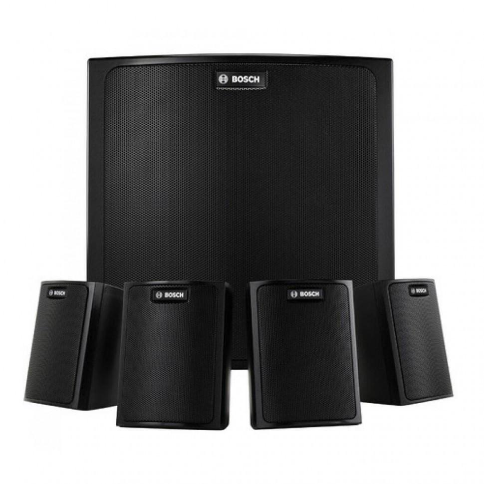 Настенная музыкальная акустическая система  (1 сабвуфер + 4 сателлита)  LB6-100S-D черный