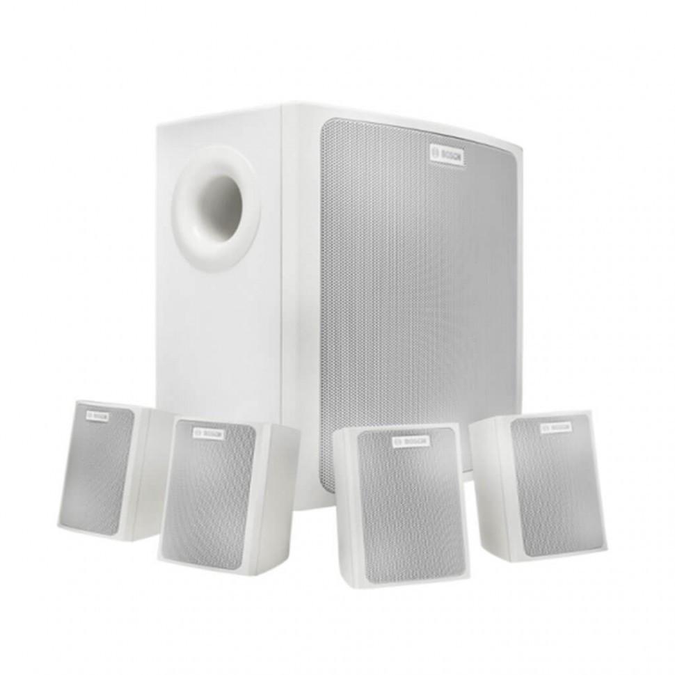 Настенная музыкальная акустическая система  (1 сабвуфер + 4 сателлита) LB6-100S-L белый