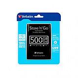 Внешний жесткий диск 2,5 500GB Verbatim 053029 черный, фото 2