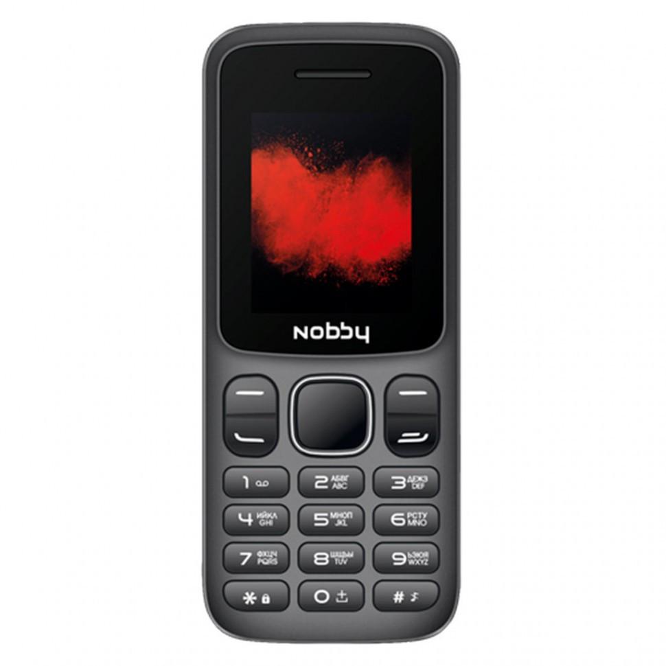 Телефон мобильный Nobby 100 черно-серый