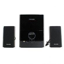 Акустическая система, Microlab, M500U/2.1, 40Вт(12Вт*2+16Вт), Вход 2RCA, USB / SD slots , Выход 2RCA, Чёрный