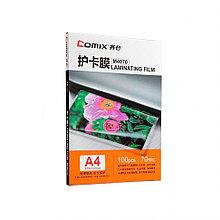 Плёнка для ламинирования А4, COMIX, M4070, 70мкм, 100шт.