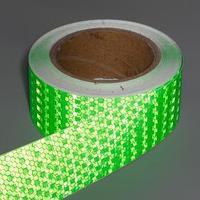 Светоотражающая лента, самоклеящаяся, зеленая, 5 см х 15 м