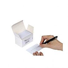 Чистые карты из ПВХ с полем для надписи на обороте - 0.50mm, 1 пачек по 100 карт
