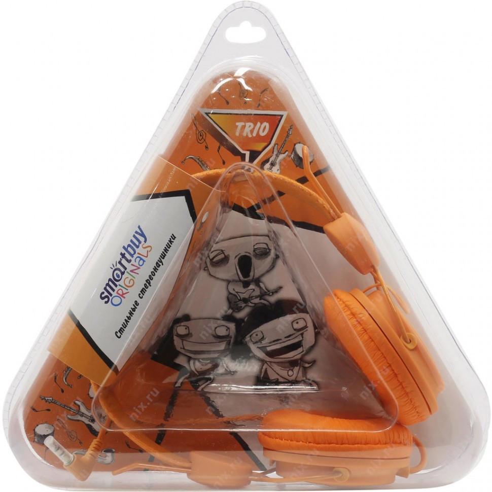 Полноразмерные наушники SmartBuy® TRIO, оранжевые (SBE-9110)/ 40 - фото 2