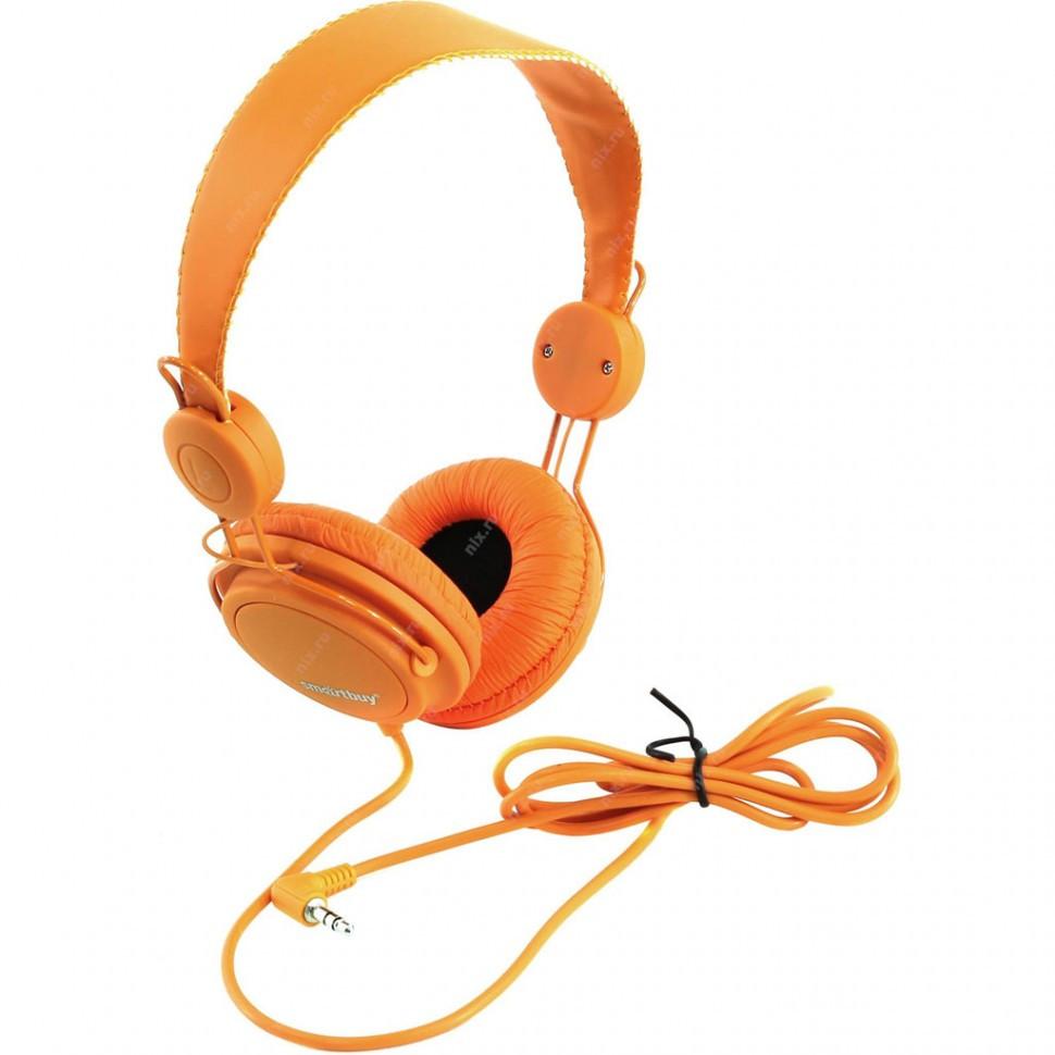 Полноразмерные наушники SmartBuy® TRIO, оранжевые (SBE-9110)/ 40 - фото 3