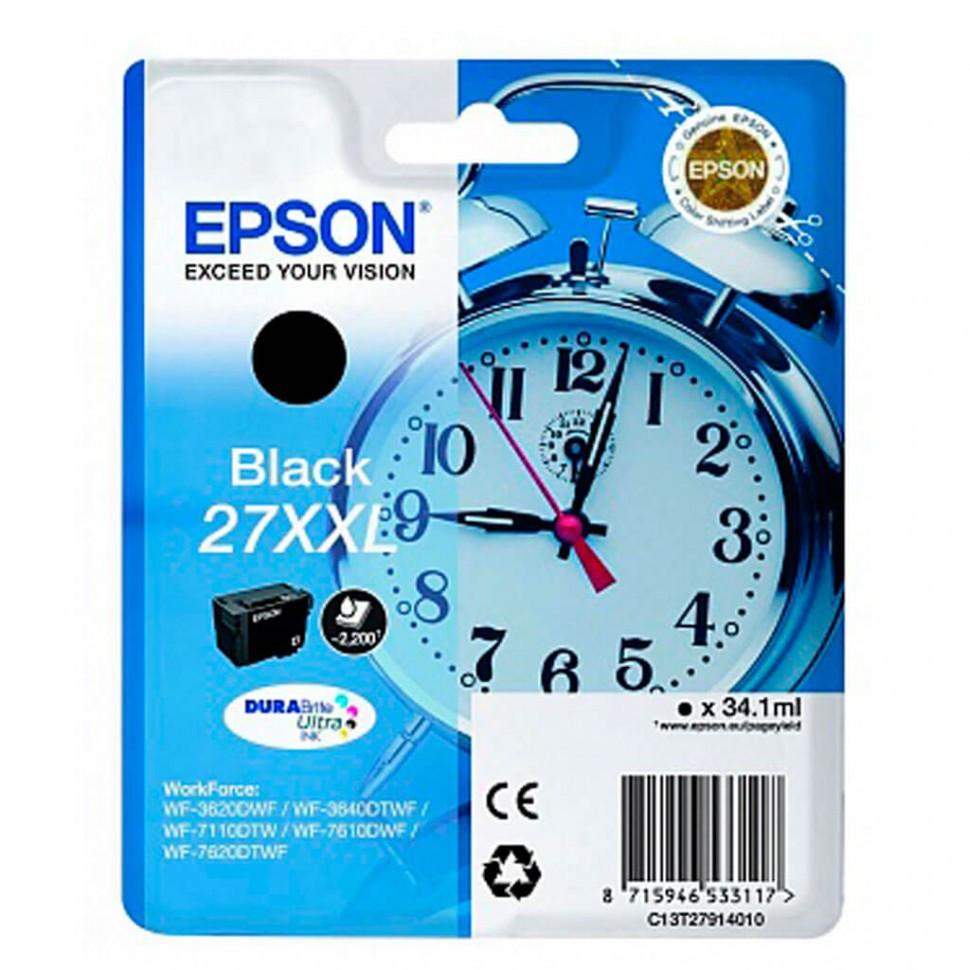 Картридж Epson C13T27914022 для WF-7620DTWF черный new