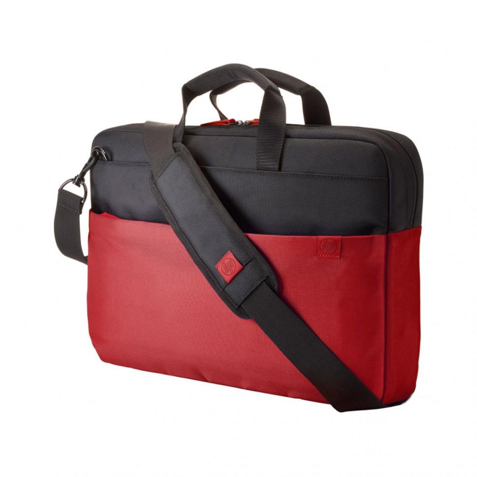 "Сумка для ноутбука HP Y4T18AA, 15.6"", Duotone BriefCase, красная"