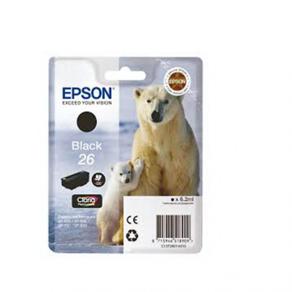 Картридж Epson C13T26014010 XP600/7/8 пигментный черный