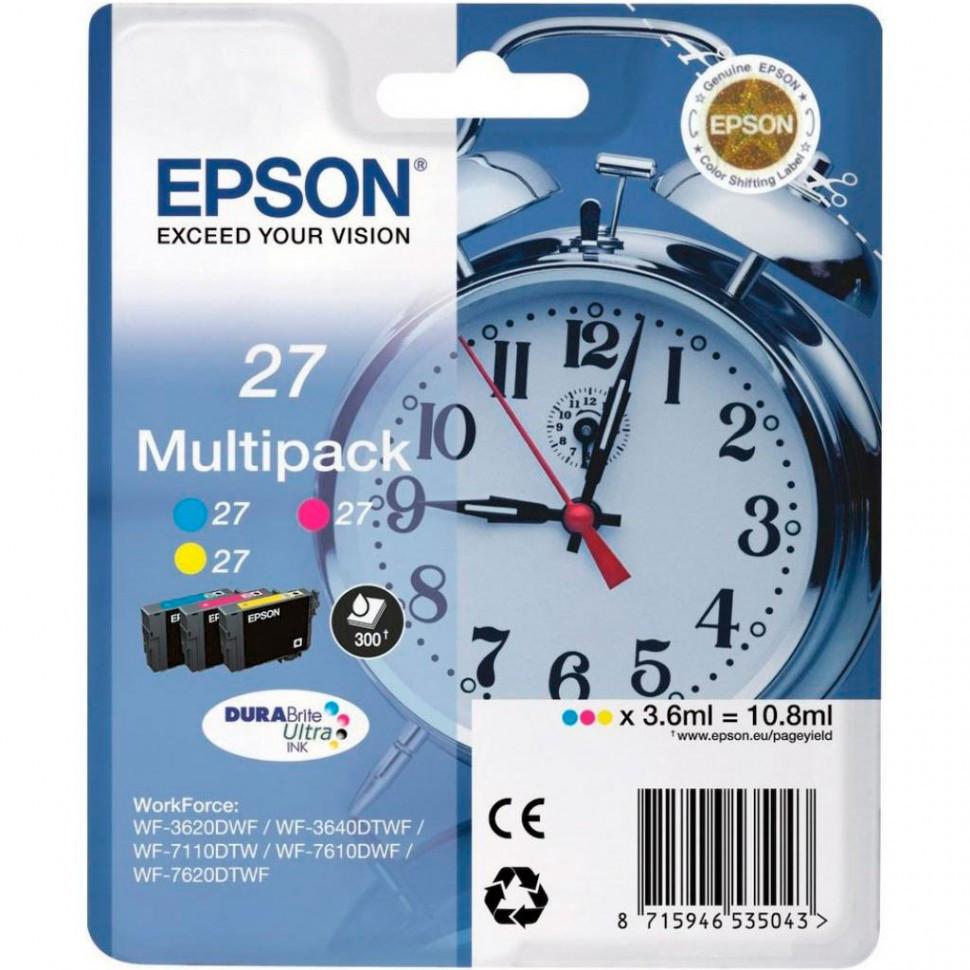 Картридж Epson C13T27054022 мультипак 3 цвета 27 DURABrite Ultra Ink for WF7110/7610/7620 new