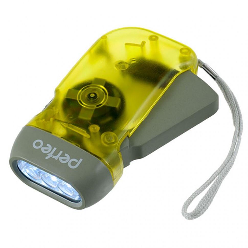 Perfeo Светодиодный фонарь электродинамический LT-008, жёлтый, 40LM