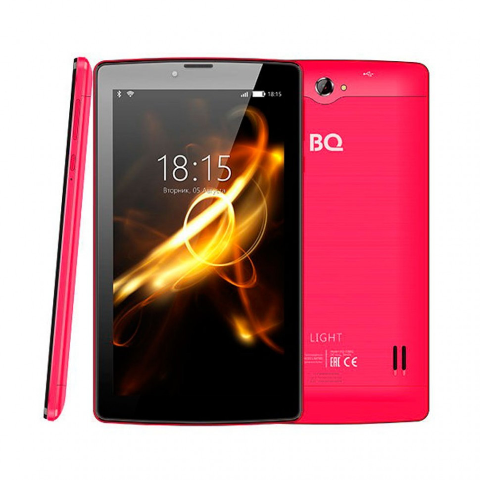 """Планшет BQ-7083G Light Red (7"""", 1024*600, TN, 4*1.0Ghz,  1+8Гб, GPS, 7.0)"""