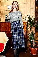 Женская осенняя шерстяная синяя юбка Colors of PAPAYA 1493 42р.