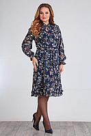 Женское осеннее шифоновое большого размера платье Jurimex 2313 52р.