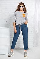 Женские осенние джинсовые синие брюки AVE RARA 4019 48р.