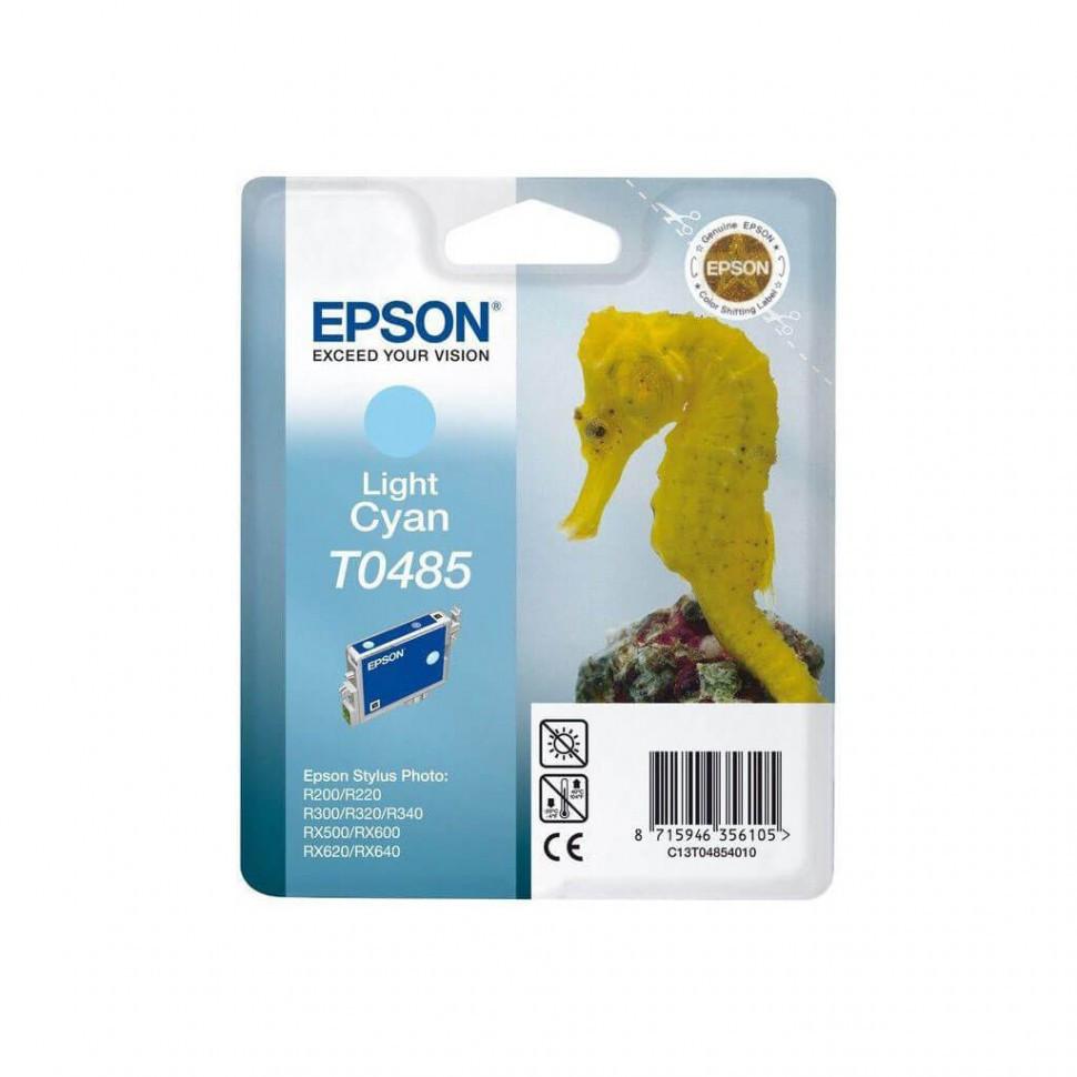 Картридж Epson C13T04854010 R200/R300/RX500/RX600 светло-голубой
