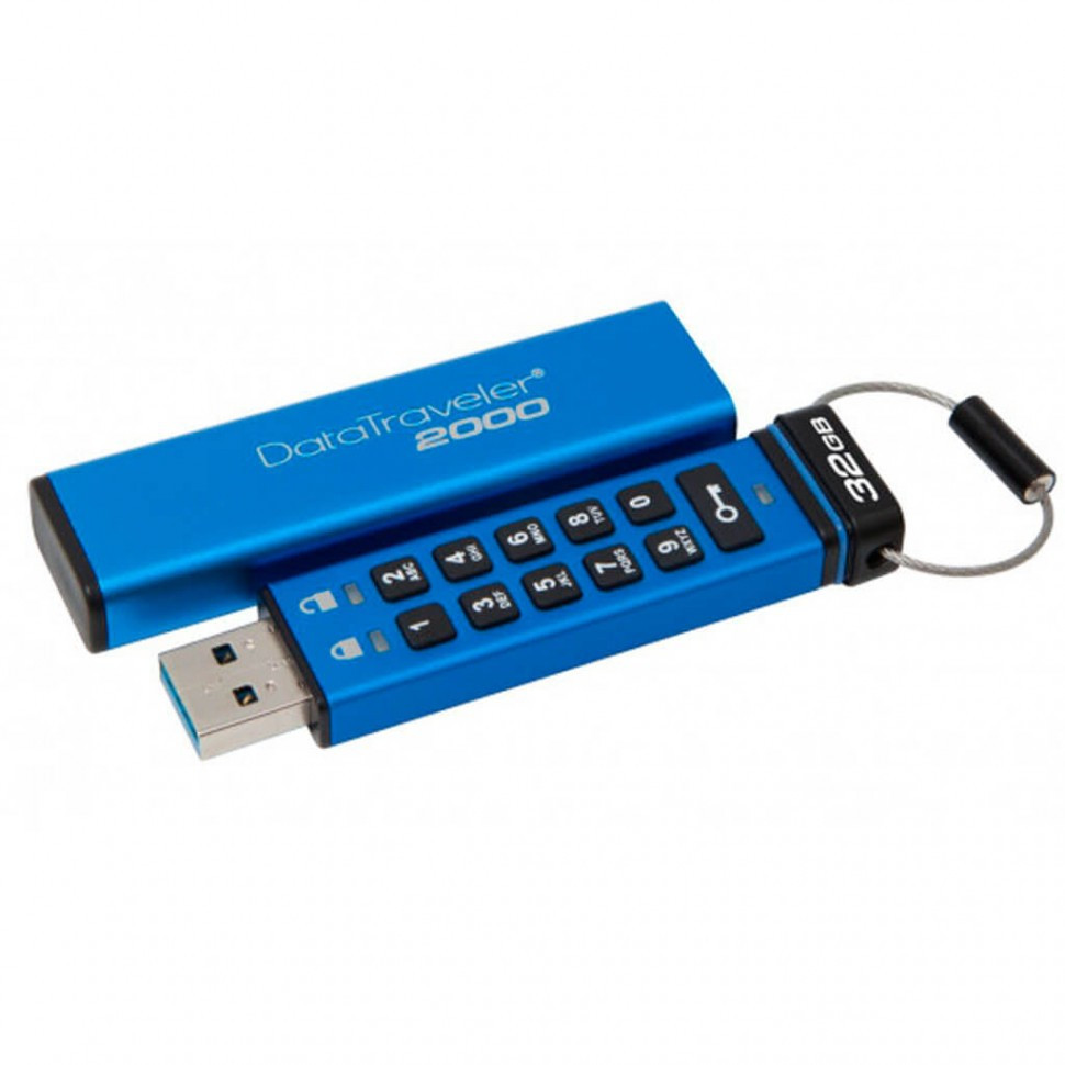 USB накопитель Kingston DT2000/32GB Keypad USB 3.0 DT2000, 256bit AES Hardware Encrypted