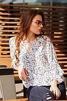 Женская летняя из вискозы блуза Individual design 19219 цветы 42р.