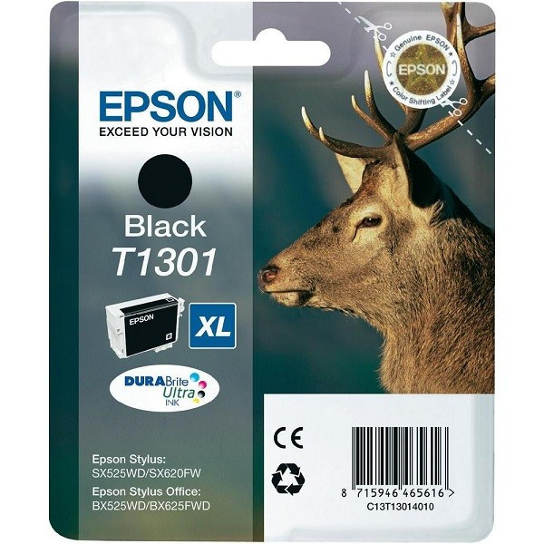 Картридж Epson, C13T13014010, black