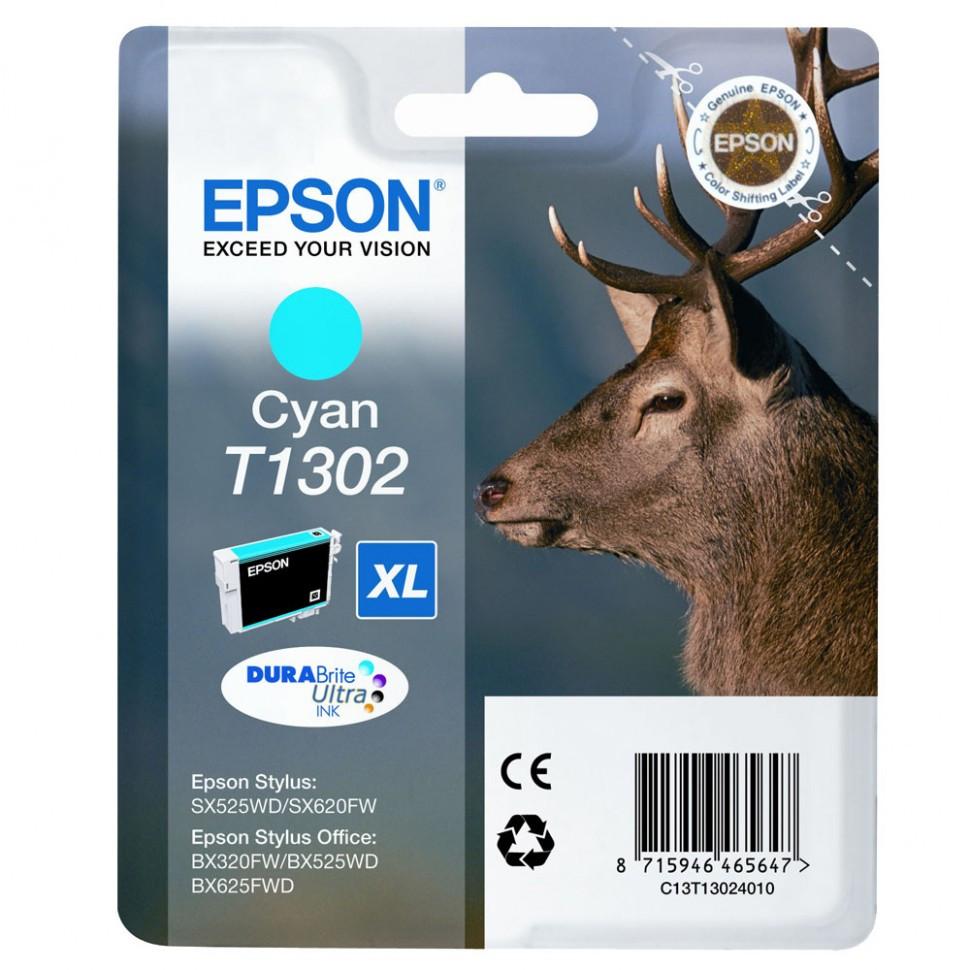Картридж Epson, C13T13024010, cyan