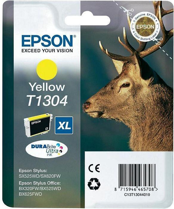Картридж Epson, C13T13044010, yellow