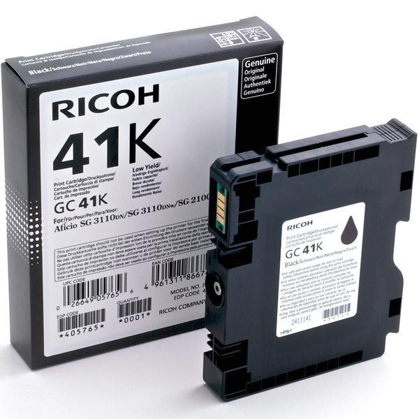 Картридж для гелевого принтера повышенной емкости Ricoh, GC 41K, чёрный на 2 500стр.