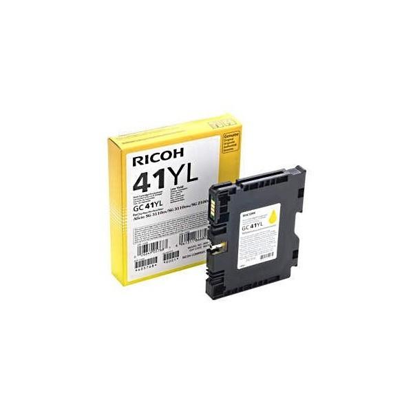 Картридж для гелевого принтера повышенной емкости Ricoh, GC 41Y, желтый на 2 200стр.