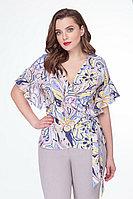 Женская летняя бежевая большого размера блуза БелЭкспози 1201 50р.