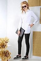 Женская осенняя хлопковая белая деловая блуза Anna Majewska 944 42р.