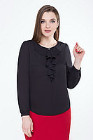 Женская осенняя черная нарядная блуза БелЭкспози 1168 46р.