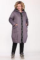 Женское осеннее фиолетовое большого размера пальто Matini 2.1422 52р.