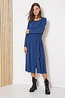 Женское осеннее трикотажное синее платье Fantazia Mod 3798 44р.