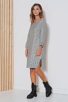 Женское осеннее серое платье Fantazia Mod 3783 48р.