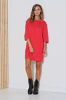 Женское осеннее красное платье Fantazia Mod 3790 44р.
