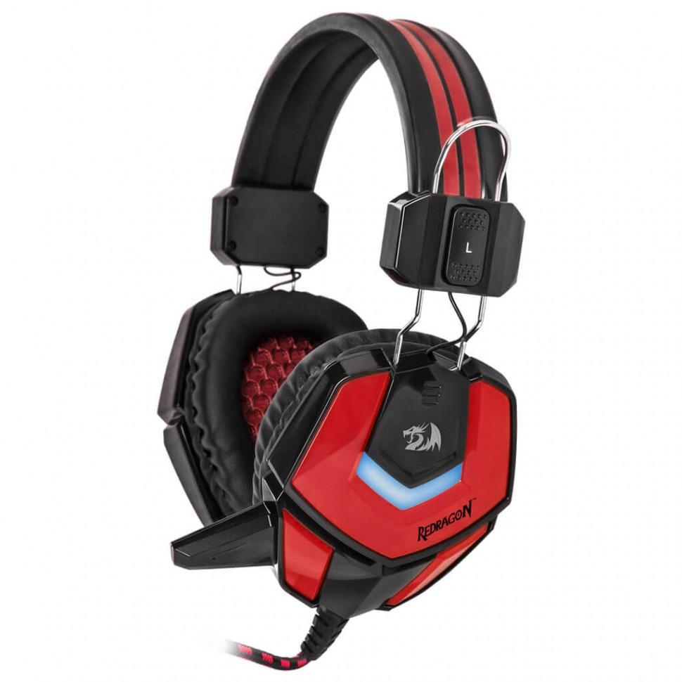 Наушники-гарнитура игровые Defender Ridley красный + черный, кабель 2,2 м